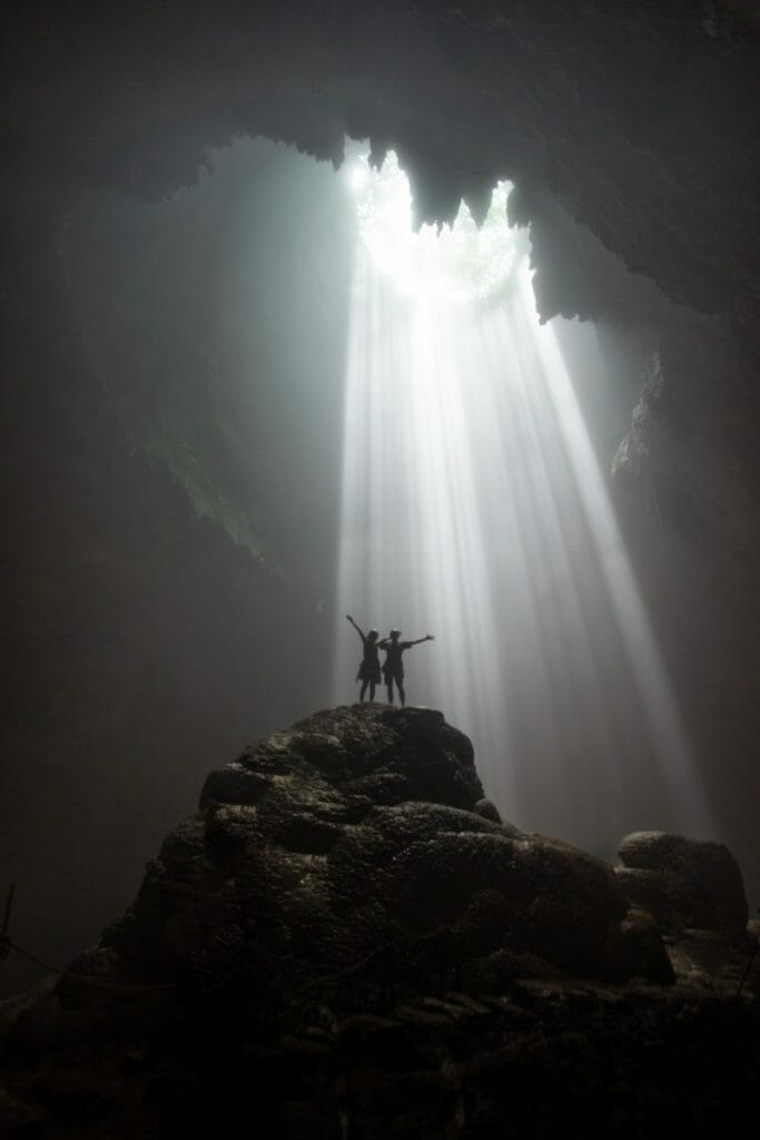 Top 11 natural attractions in Yogyakarta 4. Shine brightly with the Heaven's Rays in Jomblang Caves-min
