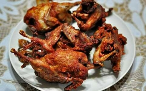 Top 9 Indonesian cuisines in Yogyakarta - 5. Fried Pigeon @ Burung Dara Goreng SBTB-min